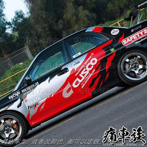 Autocollants de voiture de course de style automobile autocollants de flamme guirlande décorative modification de véhicule pour Subaru Impreza
