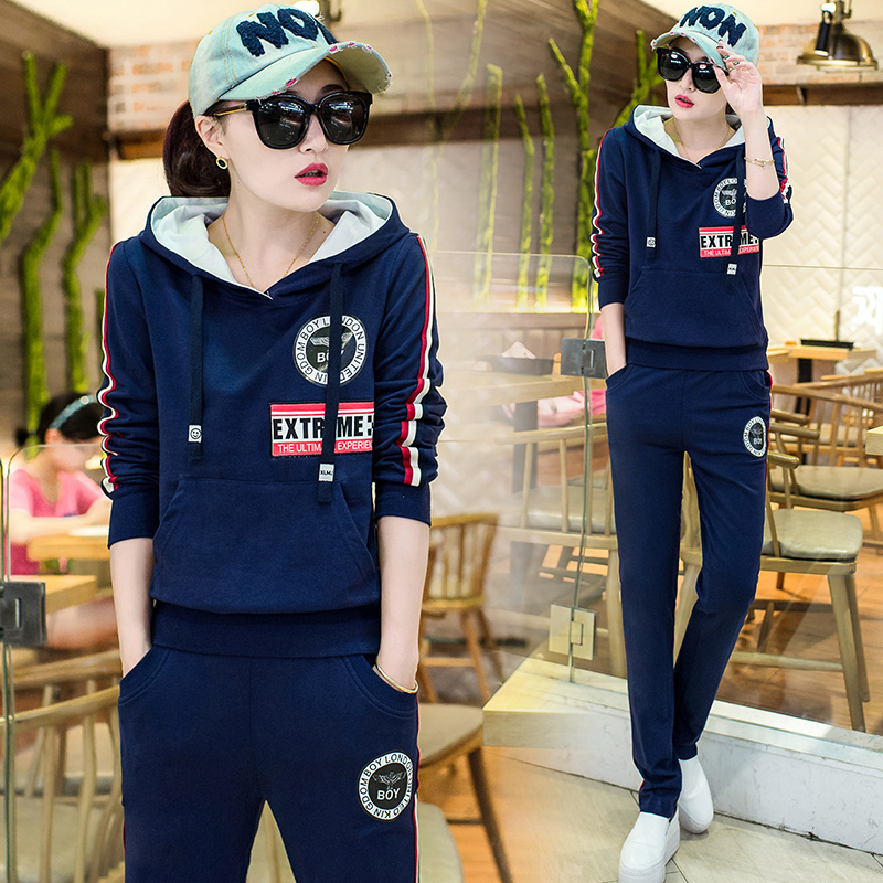 Women TrackSuit Spring And Autumn Korean Fashion Casual Clothing Set Hoodies Loose Two-Piece Hooded Sportswear Leisure Suit