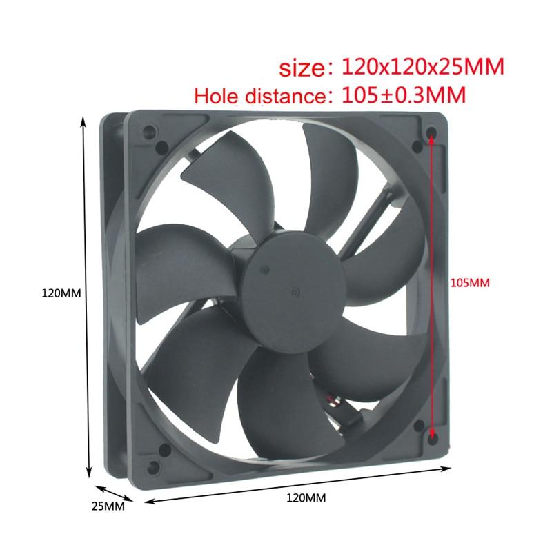 Computer Cooling Fan DC 24V 120MM 12CM 120X120X25 Double Ball BALLbearing machine cooling fans Free shipping 5PCS ffb1324vhe b inverter double ball bearing cooling fan ffb1324vhe dc 24v 14 4w 0 9a 3050rpm 12738 127 127 38mm 12cm