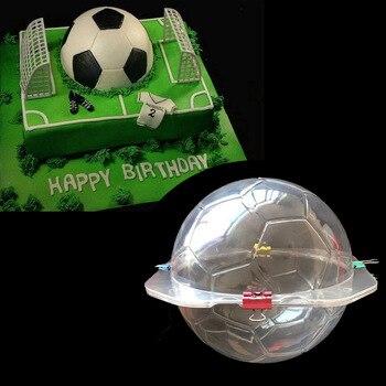 Большой 3D футбол пластиковые формы дизайнер Molde Hormigon для сада Полимерная глина формы 15x15 см