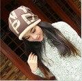 2016 Top de La Moda de Invierno de la Gorrita Tejida Sombreros Para El Envío Libre Skullies Capó Tapa Turbante Femenino Stocking Sombrero Gorro Pasamontañas Sombreros Para