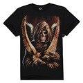3D Mujeres de la Camiseta/de Los Hombres de Algodón Tops Tee Lobo Cráneo Swag Impresa de Manga Corta Camiseta Más La Camiseta Camisetas # T85
