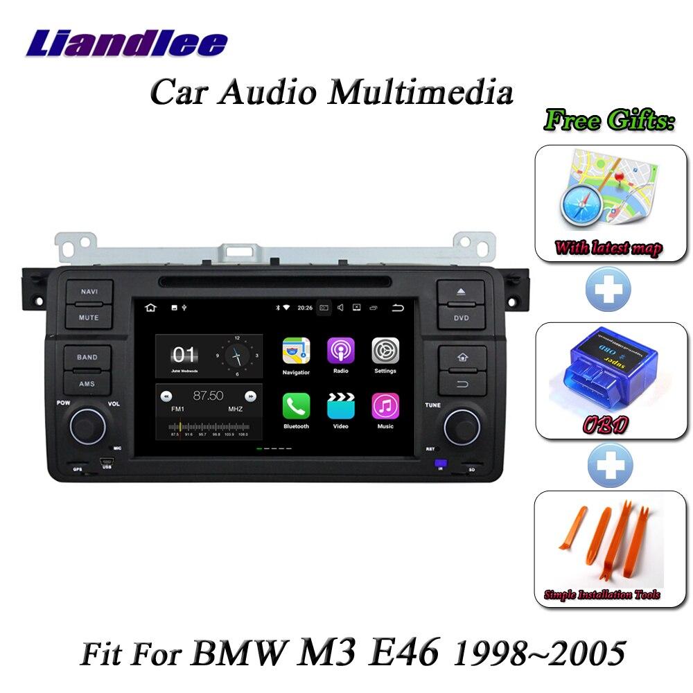 Système Android de voiture Liandlee pour BMW M3 E46 1998 ~ 2005 lecteur Radio CD DVD GPS Navi carte Navigation HD Wifi BT écran TV multimédia