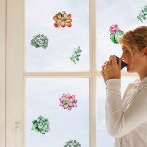 Image 1 - Komórkowy kreatywny naklejki ścienne śliczne roślin umieszczone z dekoracyjne ściany dekoracja okienna vinilos decorativos para paredes