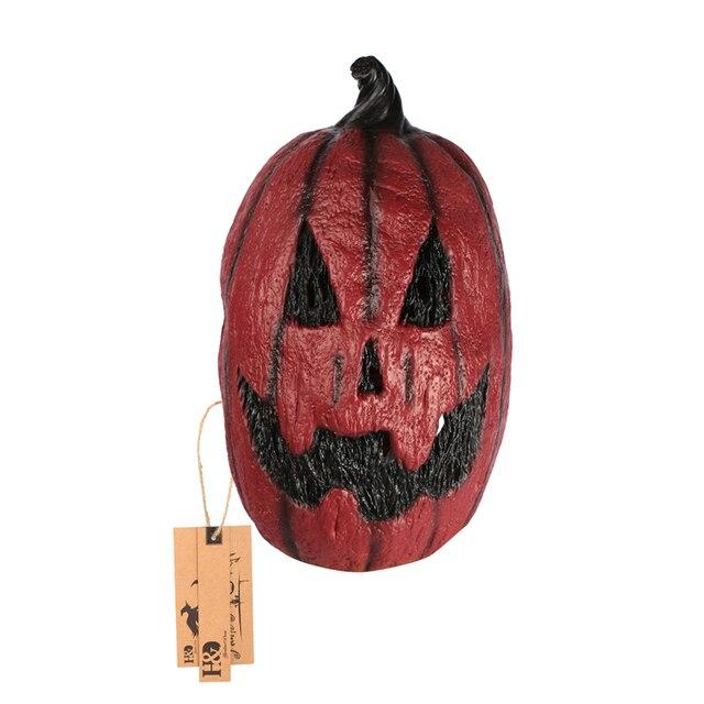 Vollen Kopf Kürbis Scary Latex Maske Grimasse Parteischablone Horror Maskerade Erwachsenen Film Maske Halloween Requisiten Kostüme Kostüm