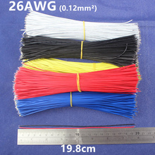 Free Shipping 50pcs pcb solder cable 26AWG 19.8cm Fly jumper wire cable Tin Conductor wires color choose(China)