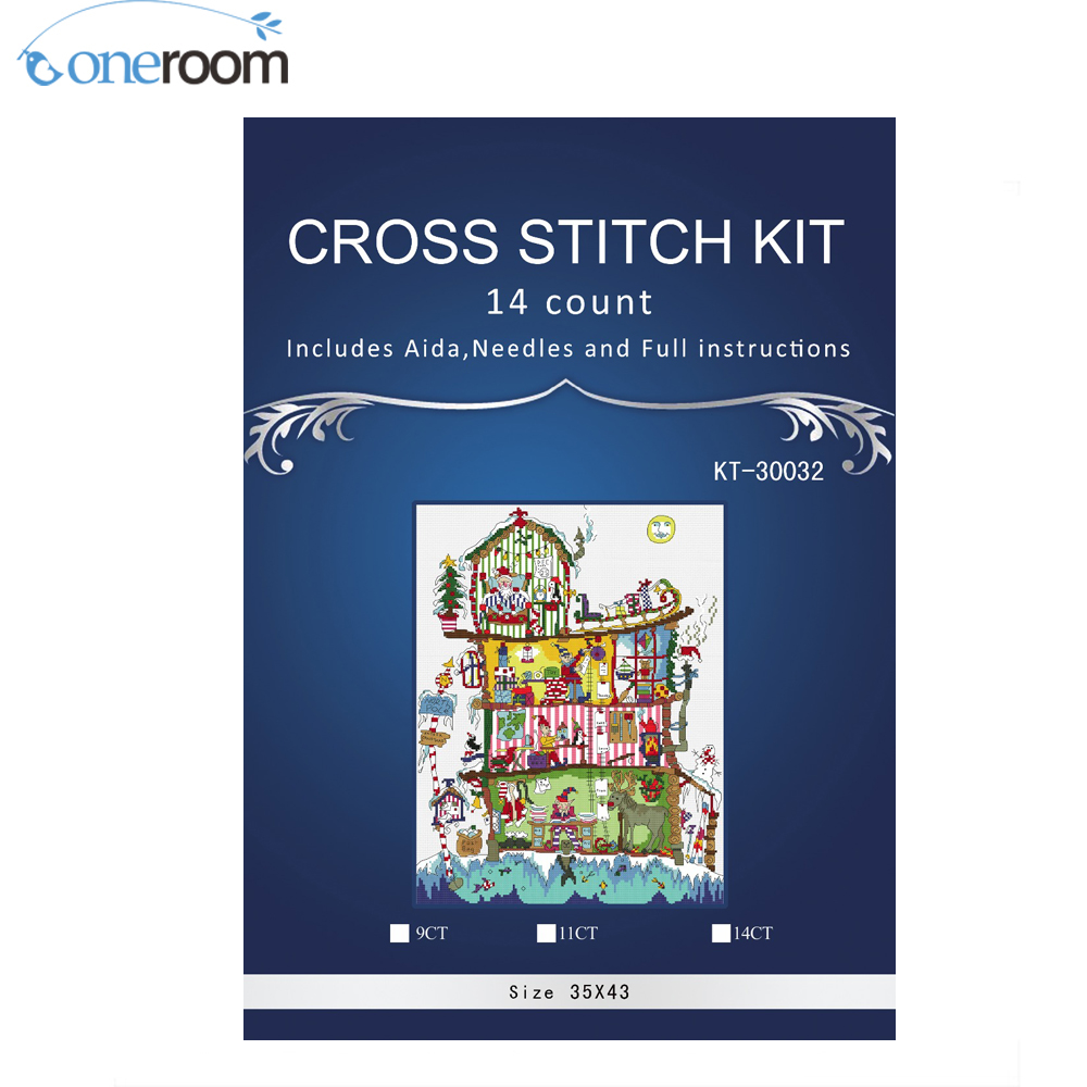 NEW BOTHY THREADS CUT THRU NORTH POLE HOUSE CHRISTMAS COUNTED CROSS STITCH KIT