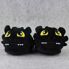 1 Pair Toothless Night Fury How To Train Your Dragon indoor Slippers Plush Shoes Warm Winter