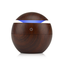 Mini Wooden Air Humidifiers Aromatherapy Ultrasonic Humidifier Oil Aroma Diffuser USB Purifier Color Changing LED Touch