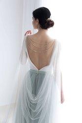 Braut cape mit zurück halskette-Cape schleier-Braut cape schleier-Schulter schleier-Hochzeit cape
