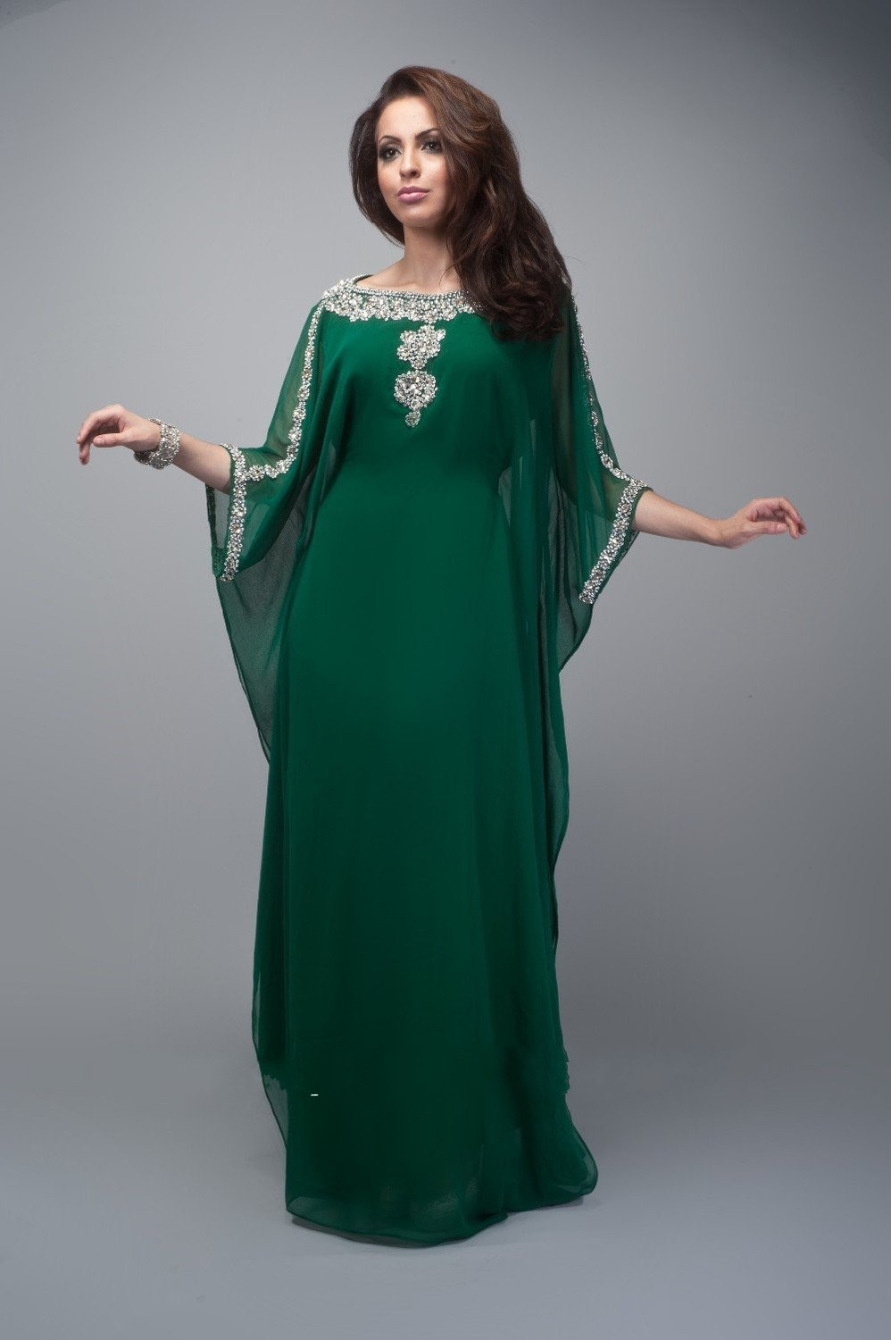 Saudi Arabic Abaya A Line Scoop Chiffon Ladies Formal Gowns Dubai ...