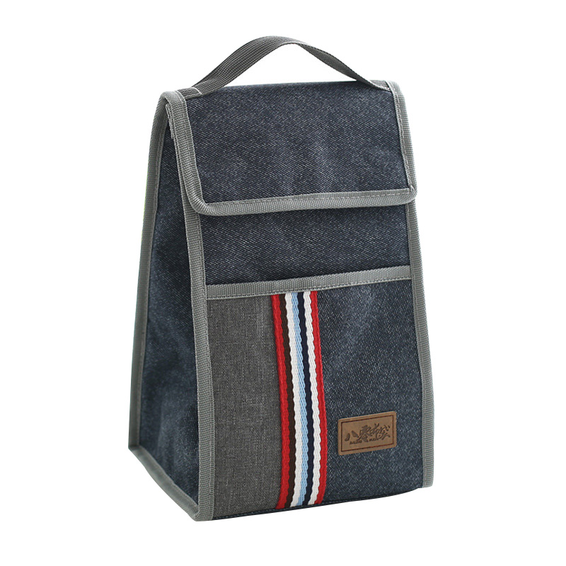 Leisure Denim Buckle Lunch Bag Insulated Pack Drink Food Thermal Ice Cooler Bags Womens Kids Picnic Lunch Pouch Accessories