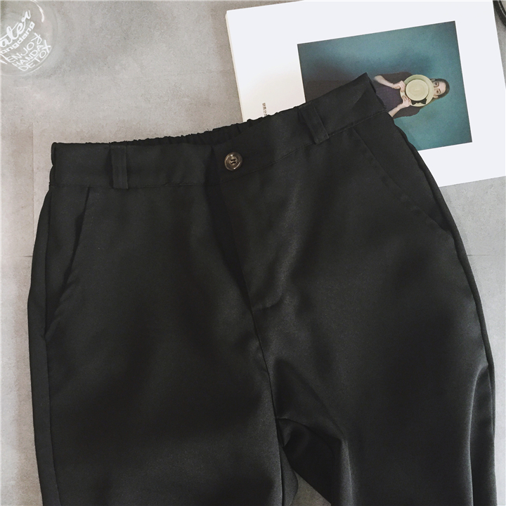1fe5b0cb3ea9 PAROLLADA Women Fashion Harem Pants Black Pants Casual Summer Roll up Ankle  Pants -in Pants   Capris from Women s Clothing on Aliexpress.com