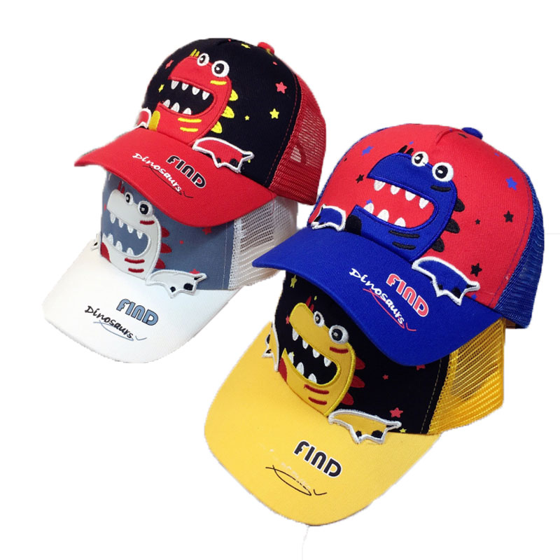 Child Baseball Cap Kids Boy Girl 2019 Summer Mesh Cap Fashion Animal Embroide Adjustable Baseball Hat Cap Gorras Casquette