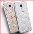 Vpower for meizu m3 note case cover m3 note Silicone soft 3d Relief pattern protect case for meizu meilan note 3+ screen film