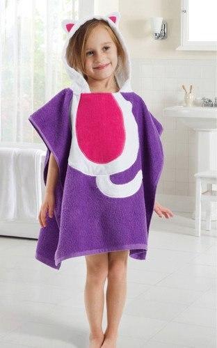 5 видов конструкций детский халат с капюшоном/детское полотенце/модель ing полотенца с фигурками животных/детский банный халат/детское банное полотенце - Цвет: Purple cat