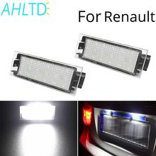 2Pcs Car Led HD Special License Plate Light For Renault Clio Megane III  Master Laguna II 5D Styling DC 12V Number Lamps