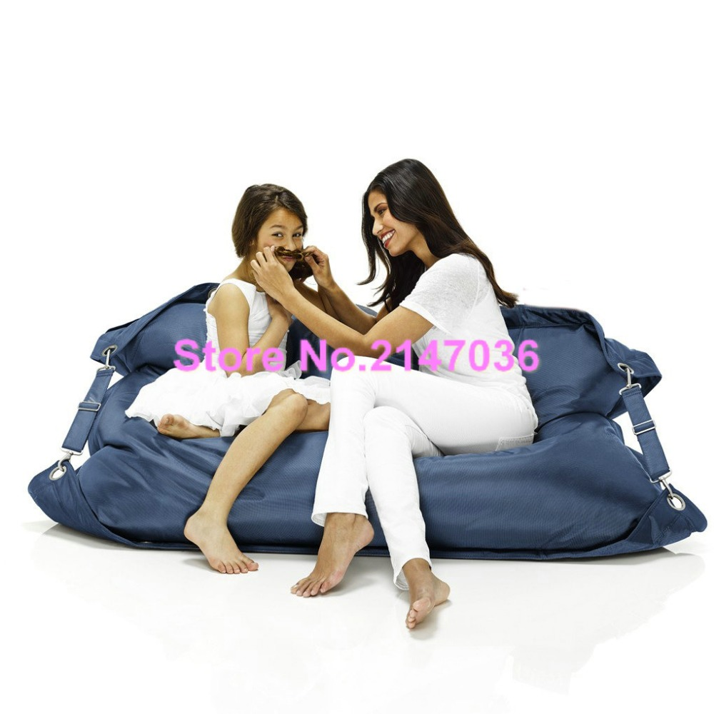 Navy Blue Outdoor Ramak Bean Bag Furniture Living Room Two Seat Sofa Safety Belts Beanbag Kpecno In Garden Sofas From On