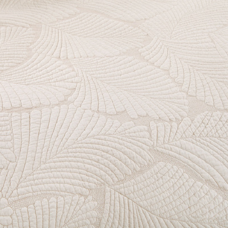 CHAUSUB Embroidery Plain Quilt Set 3PCS Washed Cotton Quilts Quilted Bedspread Coverlet Set Bed Cover Sheets 2 Shams King Size in Quilts from Home Garden