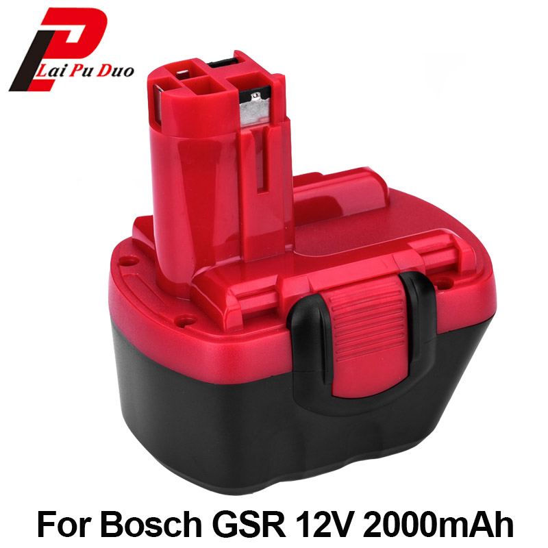 2.0Ah 12V NI-CD For BOSCH GSR 12V Replacement Power Tool Battery PSR 12 VE-2 BAT120,26073 35415,BAT139,26073 35463,BAT046 replacement power tool battery charger for bosch 7 2v gsr9 6 12v 14 4v ni mh ni cd al1411dv gsr7 2 2 gsr9 6 2 gsr12 2 gsb12 2
