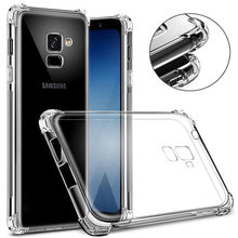 Shockproof Clear Soft Silicone Case for Samsung Galaxy Note 8 J7 J5 J3 A5 A5 A7 2017 2016 Prime S9 plus S8 S7 S6 edge Anti-Knock(China)