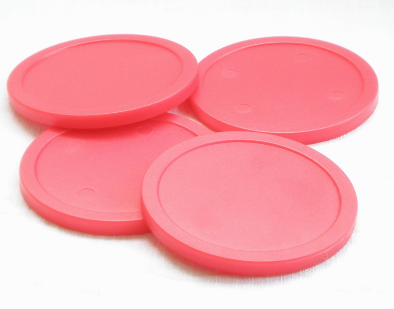 Free Shipping 4pcs/lot Red Air Hockey Table Pusher Puck 75mm 2.95