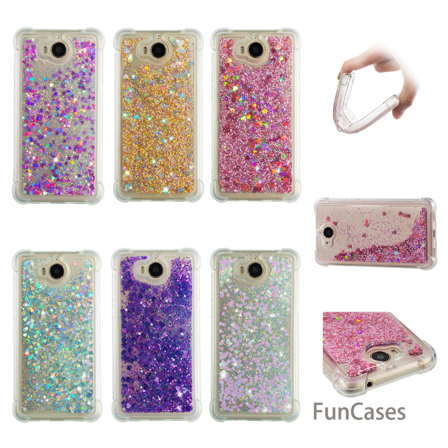 Glitter Case sFor Capinha <font><b>Huawei</b></font> Y5 <font><b>2017</b></font> Soft Silicone Back Cover Cellular Jewelled Case <font><b>Huawei</b></font> Ascend Y5 ii <font><b>2017</b></font> Huawey <font><b>Y6</b></font> <font><b>2017</b></font> image