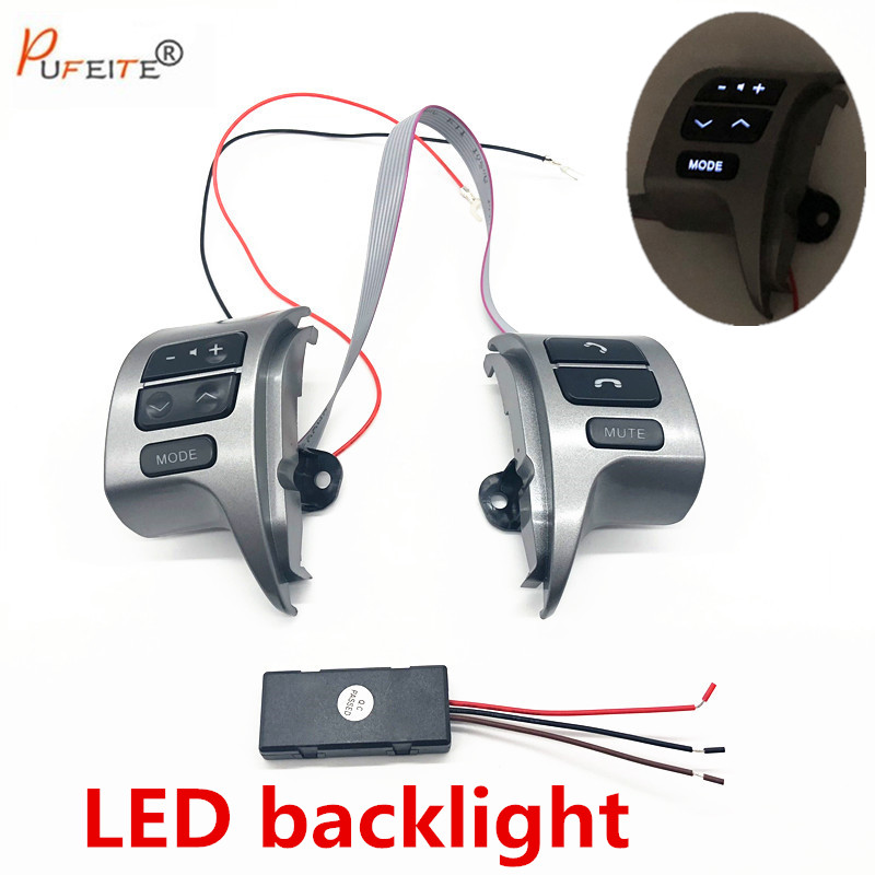 8425002200 LED for bluetooth Steering Wheel Audio Control Switch 84250-02200 84250-12020 For Toyota Corolla ZRE15 2007 ~2014 8425002200 bluetooth steering wheel audio control switch 84250 02200 84250 12020 for toyota corolla zre15 2007 2014