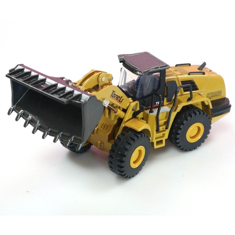 HUINA 1:50 Самосвал экскаватор колесный погрузчик литая металлическая модель строительная машина игрушки для мальчиков подарок на день рождения коллекция автомобилей - Цвет: Wheel Loader