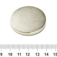 OMO Magnetics 5pcs Super Strong Round Magnets 40 mm x 5 mm Disc Rare Earth Neo Neodymium N35