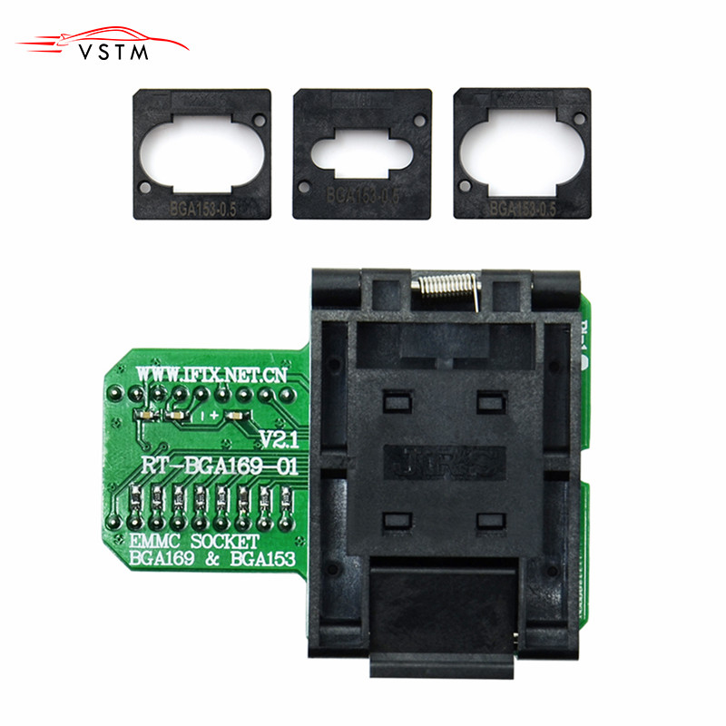 <font><b>RT</b></font>-<font><b>BGA169</b></font>-<font><b>01</b></font> <font><b>BGA169</b></font> / BGA153 EMMC Adapter V2.1 With 3pcs BGA bounding box For RT809H image