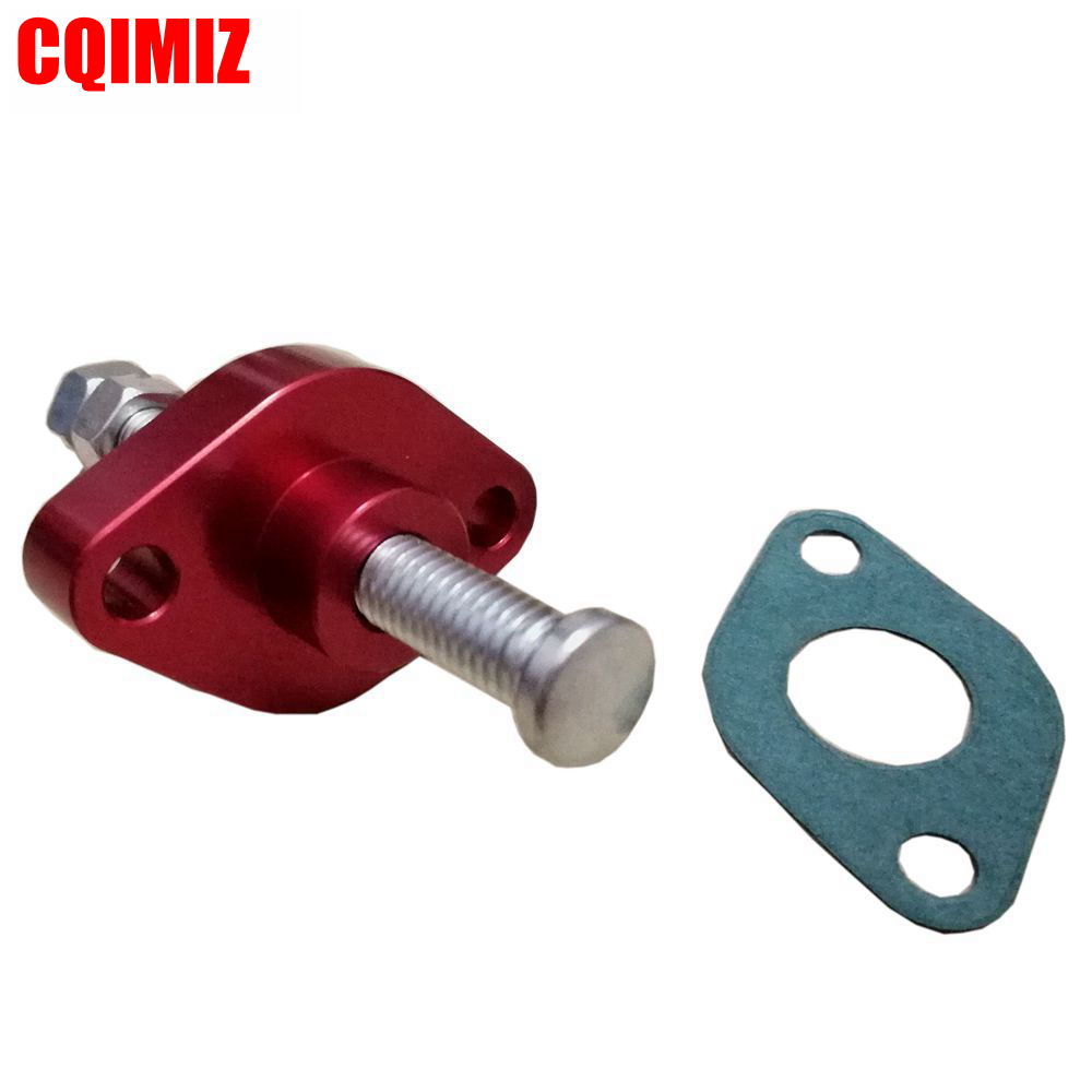 anodized red billet manual cam chain tensioner for yamaha 2001 2005 raptor 660 yamaha 2006 2010 raptor 700 [ 1000 x 1000 Pixel ]