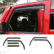 For Jeep Wrangler 2007-2016 2Door /4Door Car Embedded Windows Visor Air Vent Shield Sun Wind Rain Guard Shield Acrylic Black