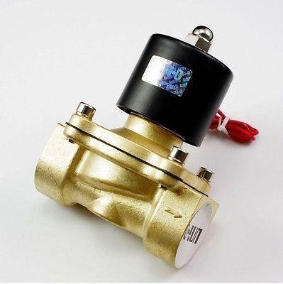 "24VDC Water Air Oil Brass NC Electric Solenoid Valve 1-1/4"" inch BSP  x 1"