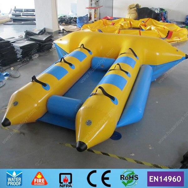 Livraison Gratuite 4 personne Gonflable flyfish bateau gonflable Bateau À Rames pour Vente (CE pompe + sac de rangement)