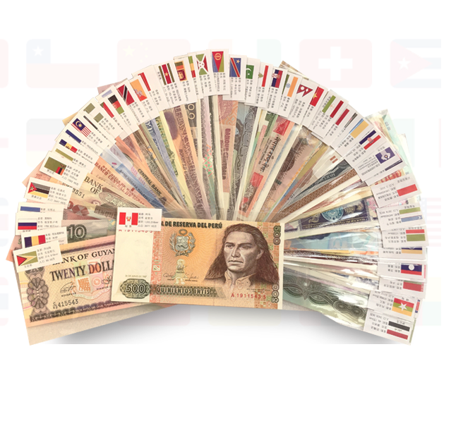 random pick 100 pcs banknotes from 50 countries original real banknote UNC good for collection real