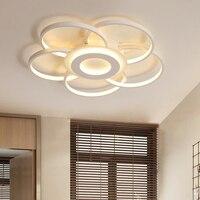 Диаметр 520/600/800 мм современный светодио дный потолочные светильники для гостиной спальни кабинет Форма Цветка Белого цвета потолочный свет