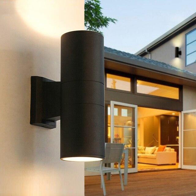 BEIAIDI 6/10/18/24W yukarı aşağı LED sundurma duvar lambası dış mekan silindir Villa avlu Stigma duvar lambası su geçirmez sokak aydınlatma