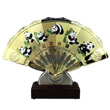 Summer Vintage Bamboo Metal Folding Fan Pattern The Great Wall/Colorful Facebook/Panda/Qingming Shanghe For Home Decor Church