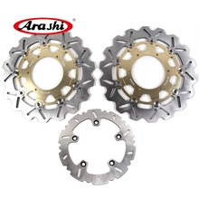 ARASHI F 700 GS CNC Front Rear Brake Rotors Disc FIT BMW F700GS 2015 2014 2013 F 700GS 13 14 15 F800GS ADV F650GS ABS WAVE DISC