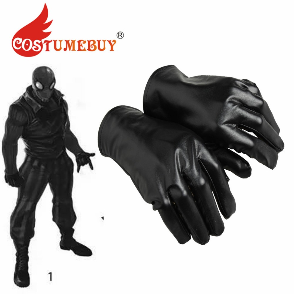 CostumeBuy Movie Spider Noir Cosplay Gloves Black Suit Comics Superhero Noir Costume Gloves Accessories L920-in Anime Costumes from Novelty ...