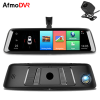 Tekbow 3 in 1 10 Inch Car DVR Dual Dash Camera Android 5.1 with GPS Video Recorder For Auto Car Rear View Camera Recorder Mirror