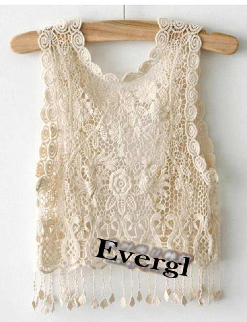 38af79c341366d ... Knitting Short sleeve Girl Crochet Tassel Shrug Top Gilet Waistcoat  Cardigan UK ...