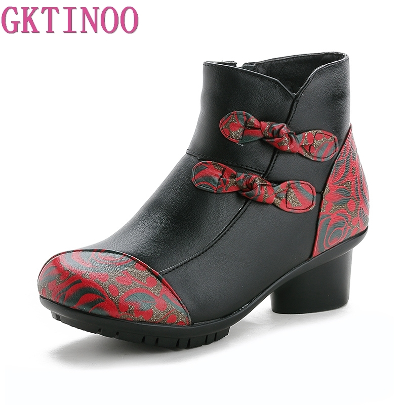 GKTINOO New Folk Style Floral Female Shoes Winter Comfortable Genuine Leather Ankle Boots for Women High Heels Retro Boots LadyGKTINOO New Folk Style Floral Female Shoes Winter Comfortable Genuine Leather Ankle Boots for Women High Heels Retro Boots Lady