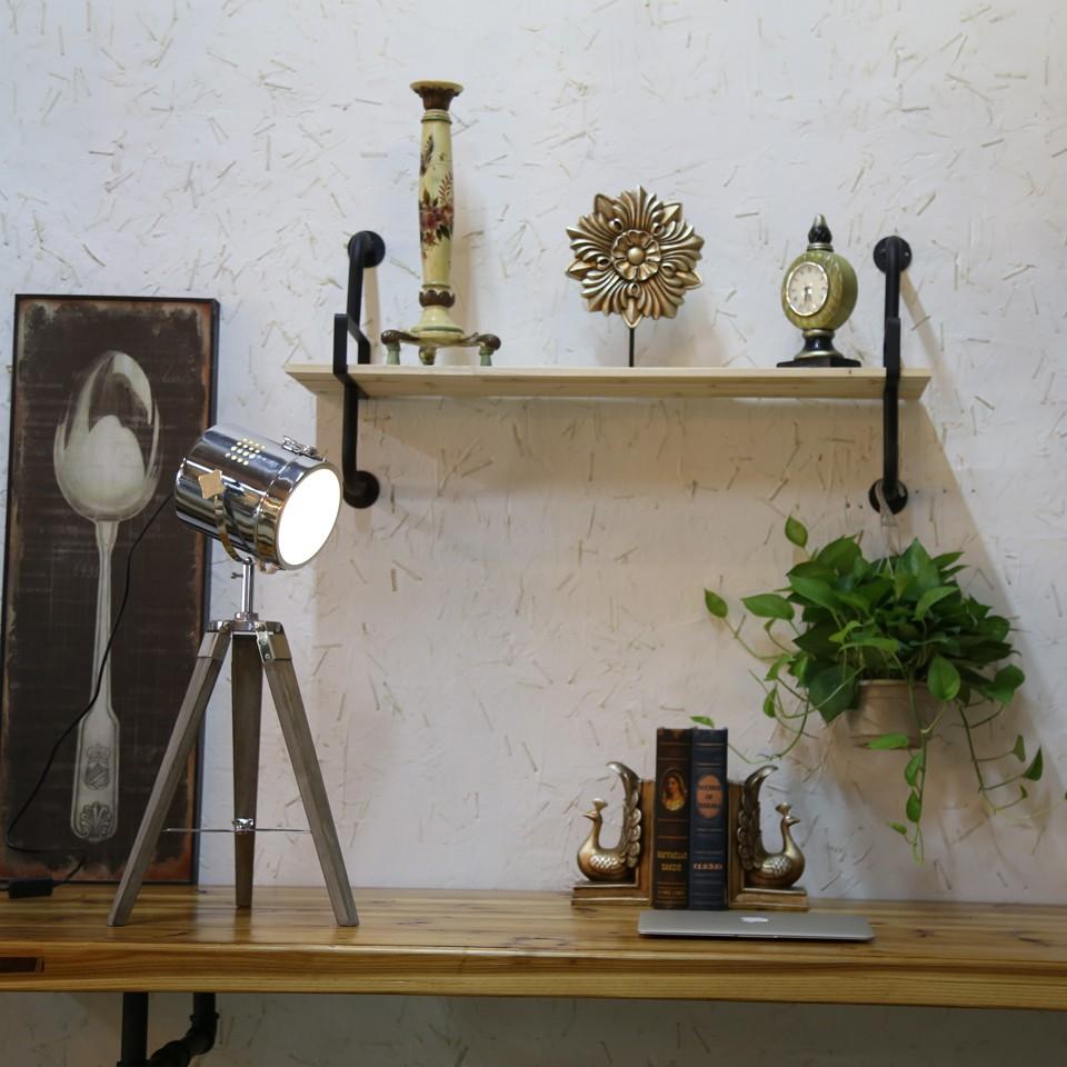 Retro Royal Wood tripod Table Search Light Lantern,Bronze led desk light flexible led desk light bar 11
