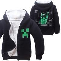 Kids Boys Halloween Minecraft Costume Black Sweatshirt Clothes Winter Hoodie Coat For Children 4 12 Years