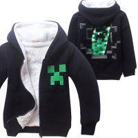 Kids Boys Halloween Minecraft Costume Black Sweatshirt Clothes Winter Hoodie Coat For Children 4 12 Years