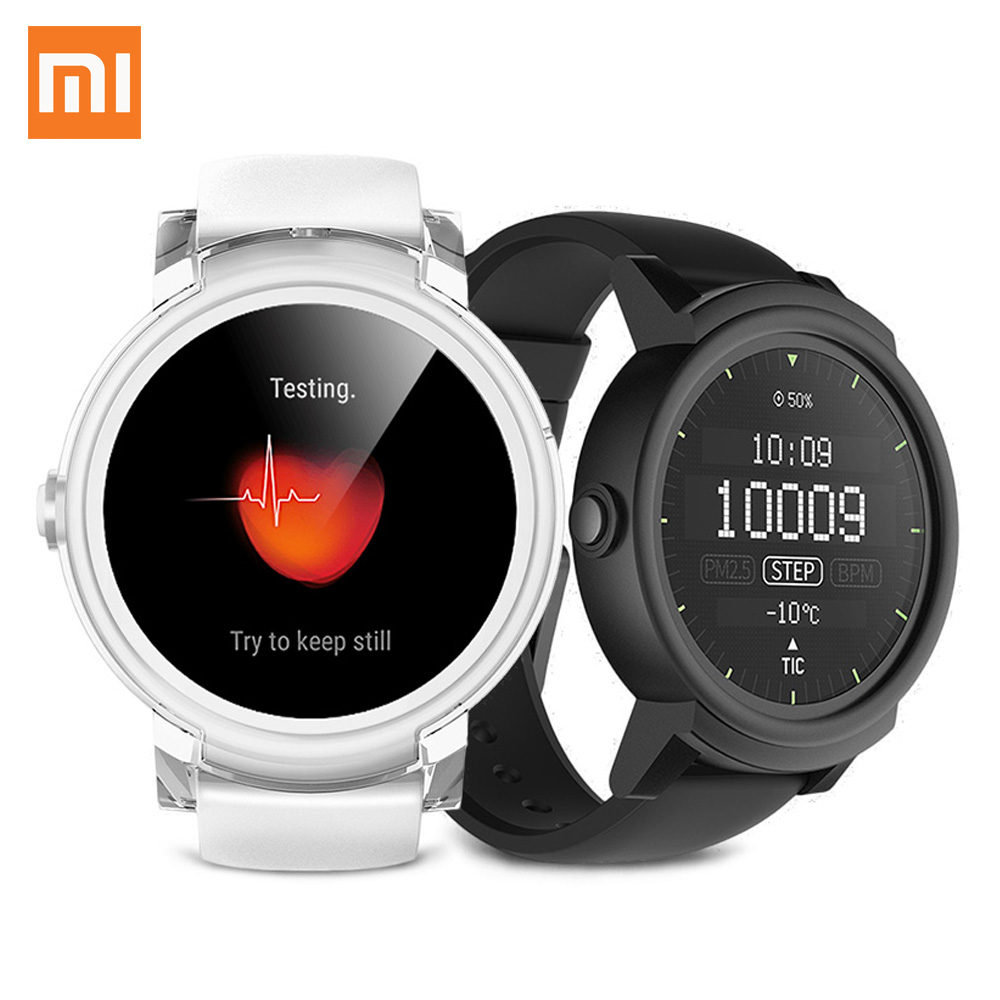 Xiaomi Ticwatch E Expres montre intelligente hommes Android porter OS MT2601 double coeur Bluetooth 4.1 WiFi GPS Sport Fitness Smartwatch téléphone