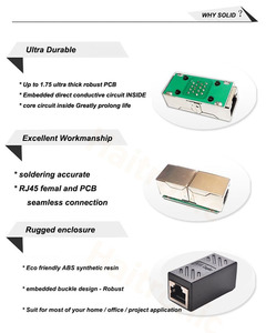 Image 2 - 2 Pack RJ45 Koppeling Ethernet Kabel Koppeling Lan Connector Inline Cat7/Cat6/Cat5e Ethernet Kabel Extender Adapter Vrouwelijke om Vrouwelijke