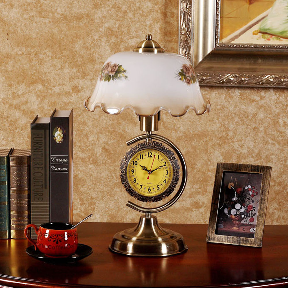 Led Lamps E27 Usa Retro Touch Table Lamp Bedroom Bed Lamp Adjustable And Clock Decoration Living Room Table Lamp 110-240v Bright In Colour